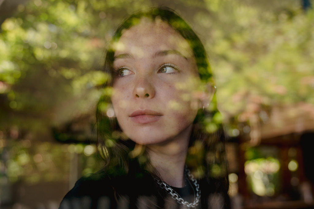 "SEATTLE, WA -­ JULY 25: Lily Cornell Silver, daughter of the late Chris Cornell, poses for a portrait on Saturday, July 25, 2020, in Seattle, Wash. Cornell Silver launched a new Instagram TV series about mental health, called ""Mind Wide Open."" (Photo by Jovelle Tamayo for The Rolling Stone)"