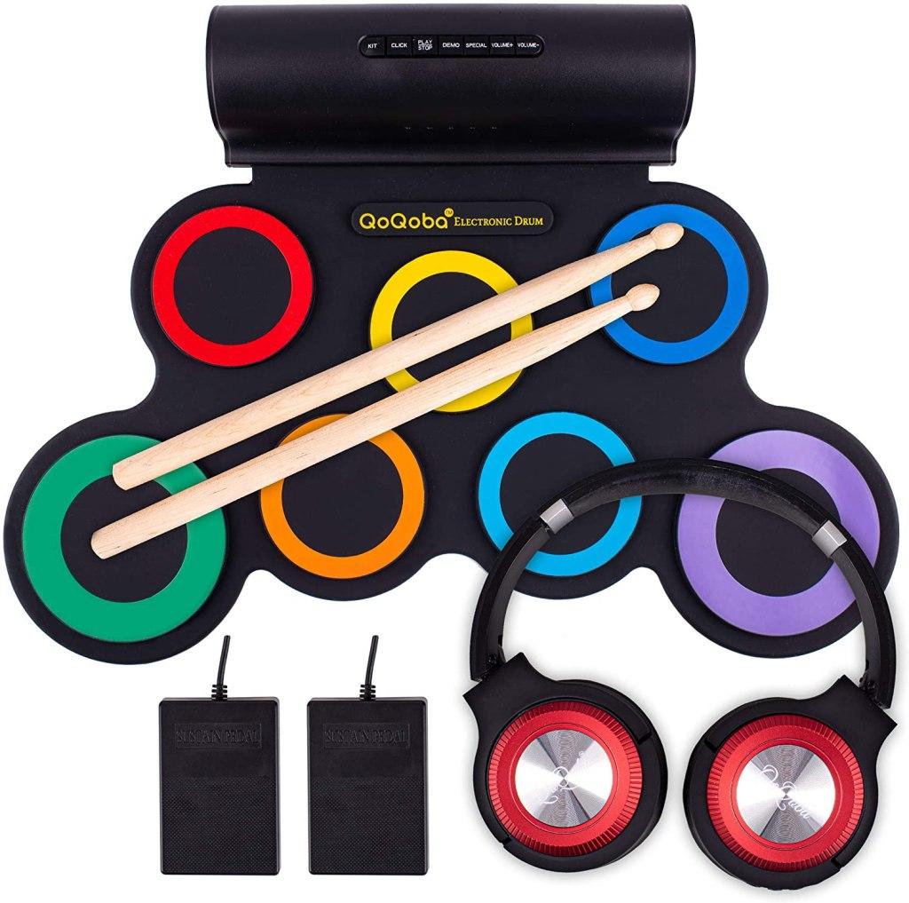 qoqoba electronic drum set kids