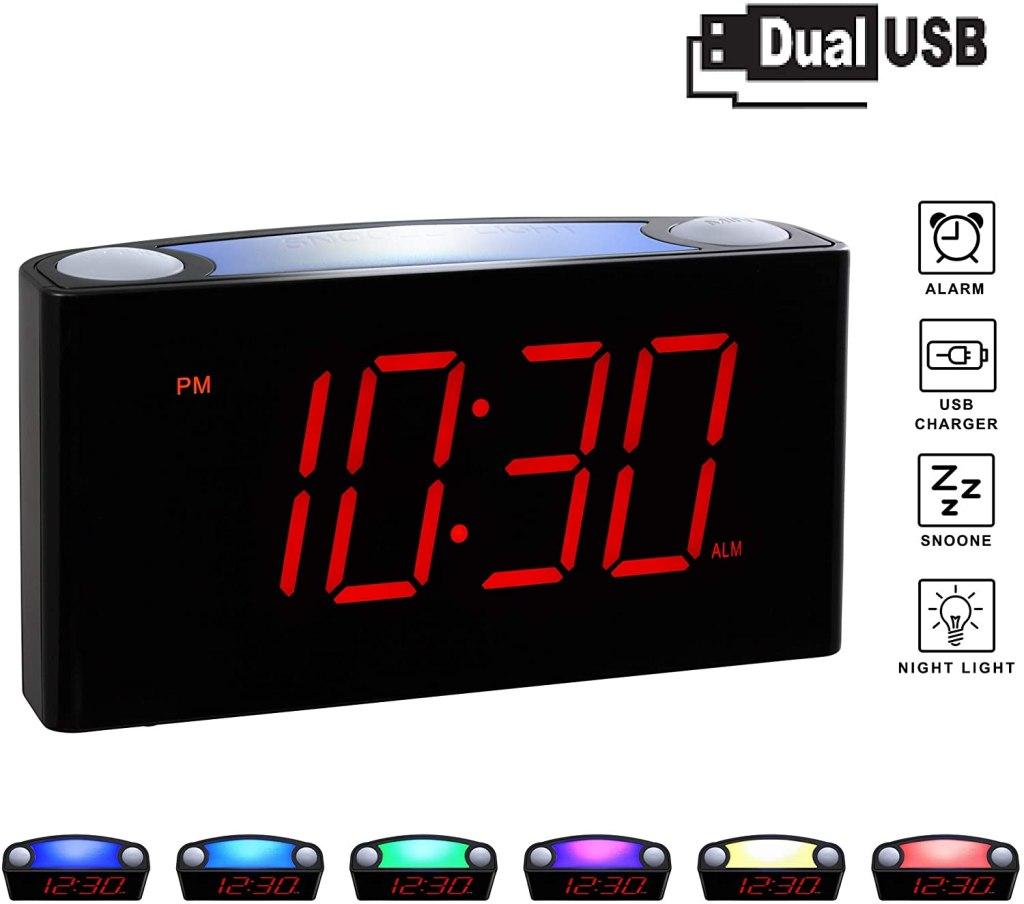 rocam home digital alarm clock