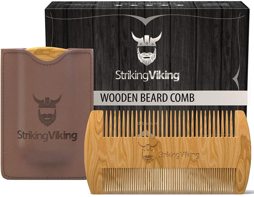 striking viking sandalwood beard comb
