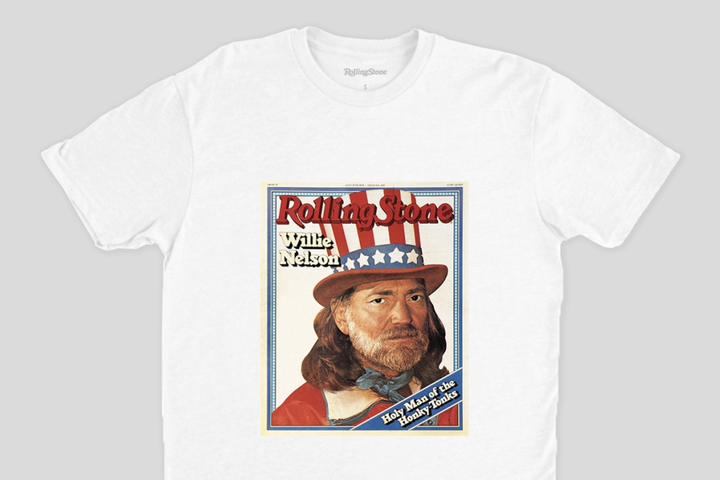 willie nelson rolling stone cover shirt