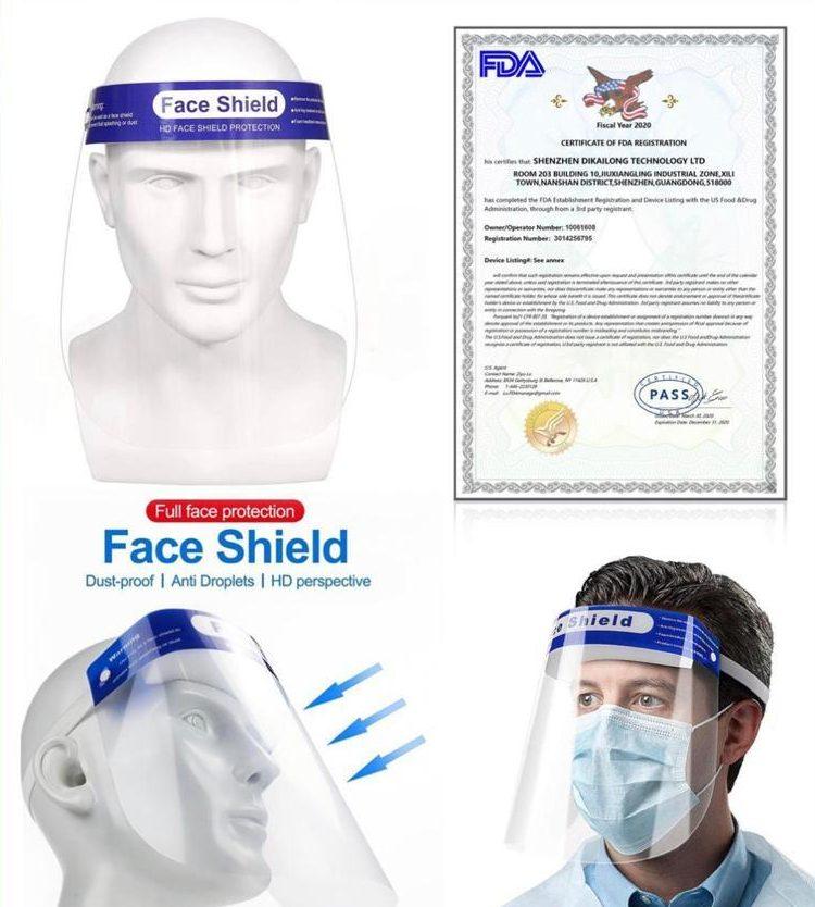 fda face shields for sale