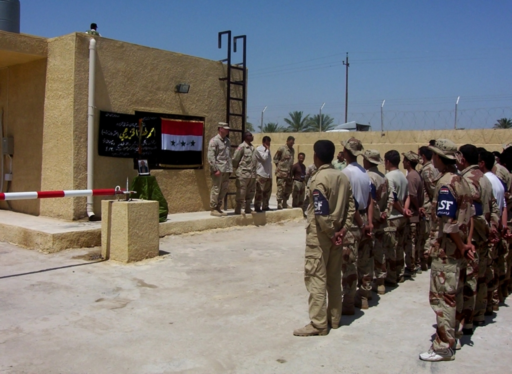 LSF during a memorial service for their leader Abu Cesar.