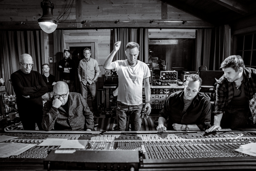 Springsteen in his Colts Neck studio last fall