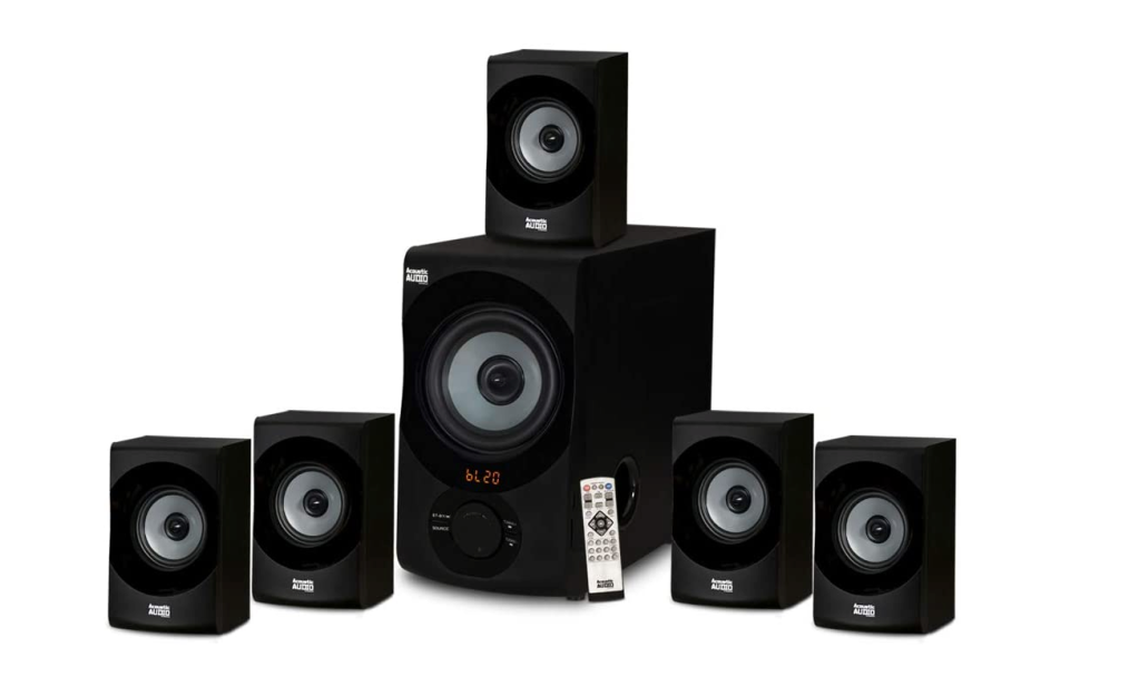 Acoustic Audio AA5172 Home Theater 5.1 Bluetooth Speaker System with USB
