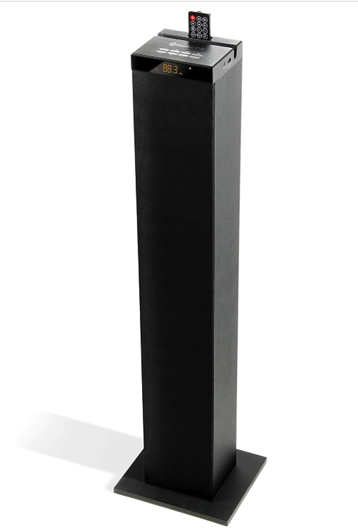 GOgroove Bluetooth Tower Speaker with Built-in Subwoofer