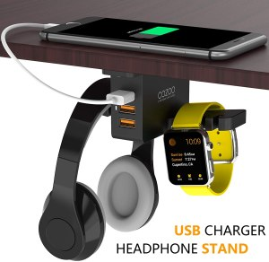 cozoo headphone charger stand