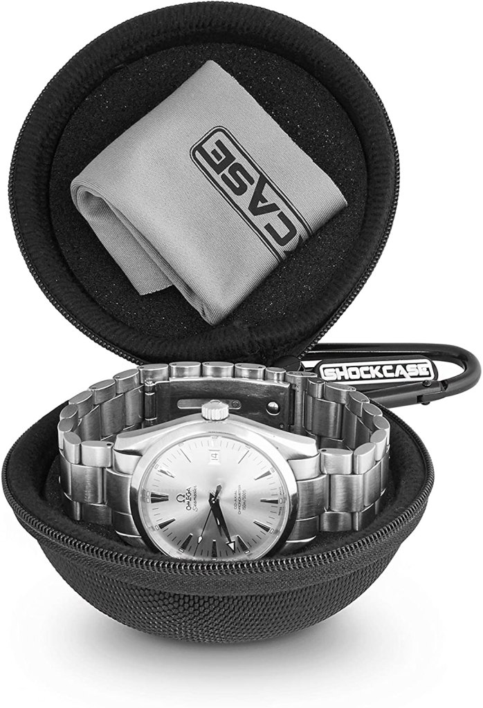 cushioned single watch travel case