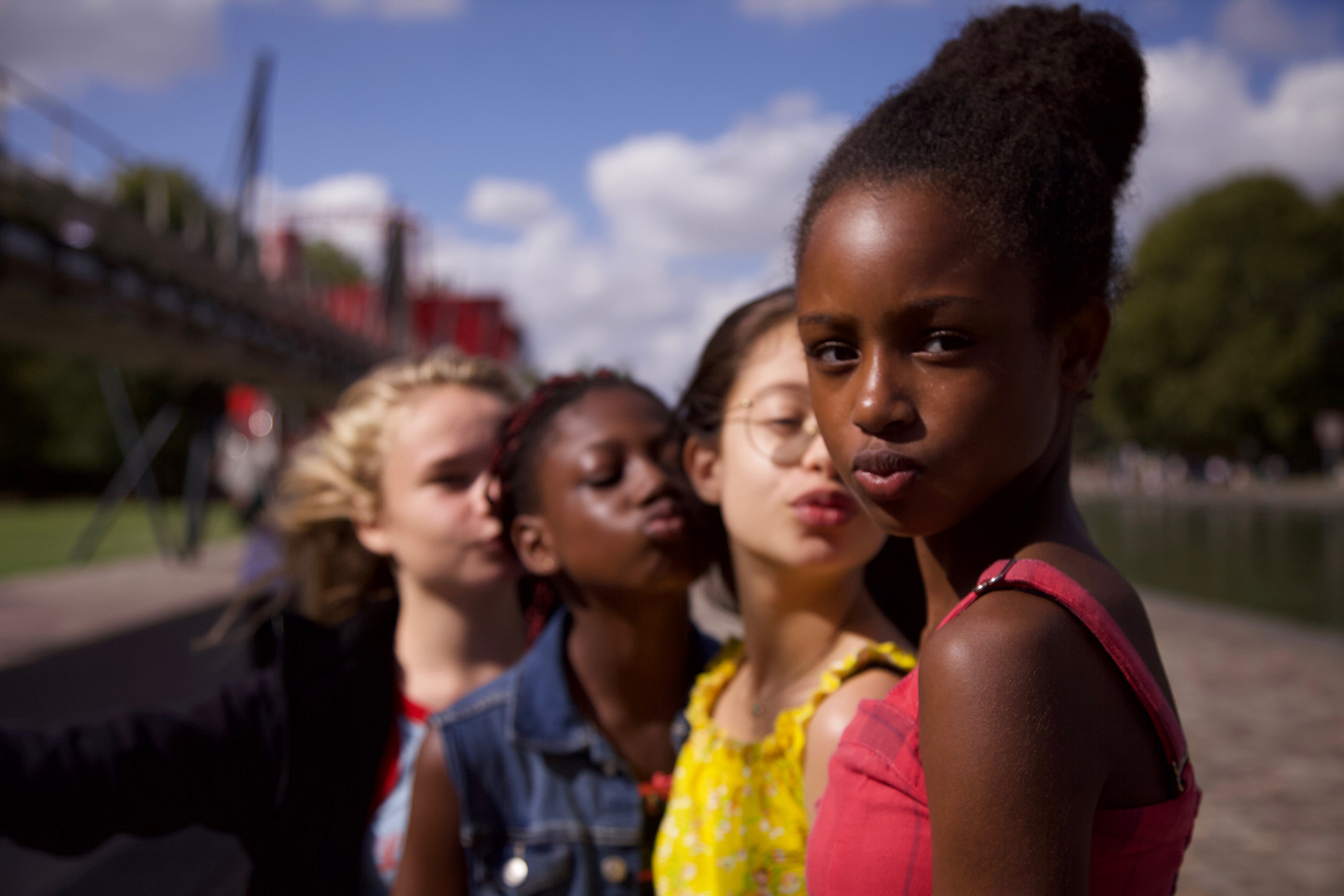 Fathia Youssouf, far right, in 'Cuties.'
