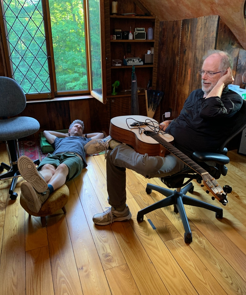 Mike Gordon and Leo Kottke at Mike's home studio in Vermont, August 2019.