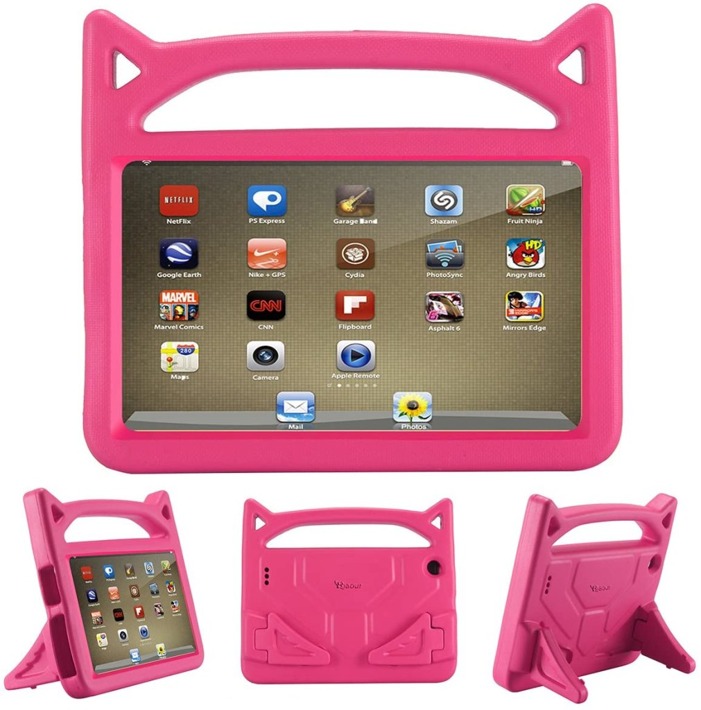 riaour kids shock proof protective tablet case