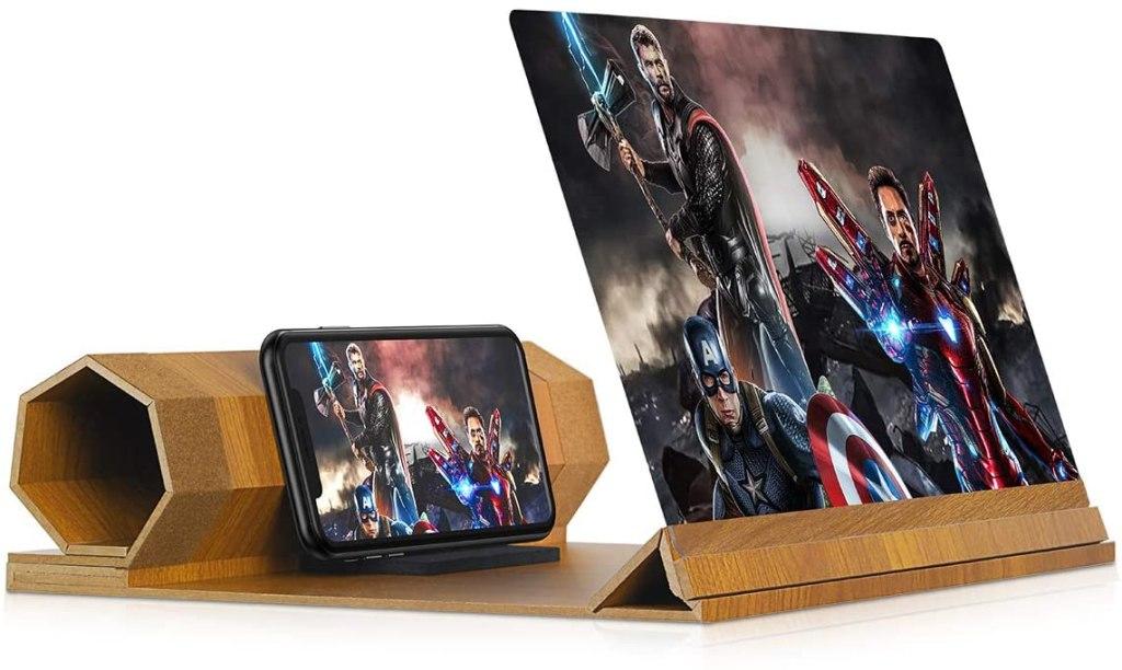 smartphone screen magnifier projector screen