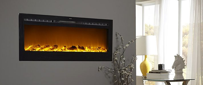 electric fireplace modern touchstone