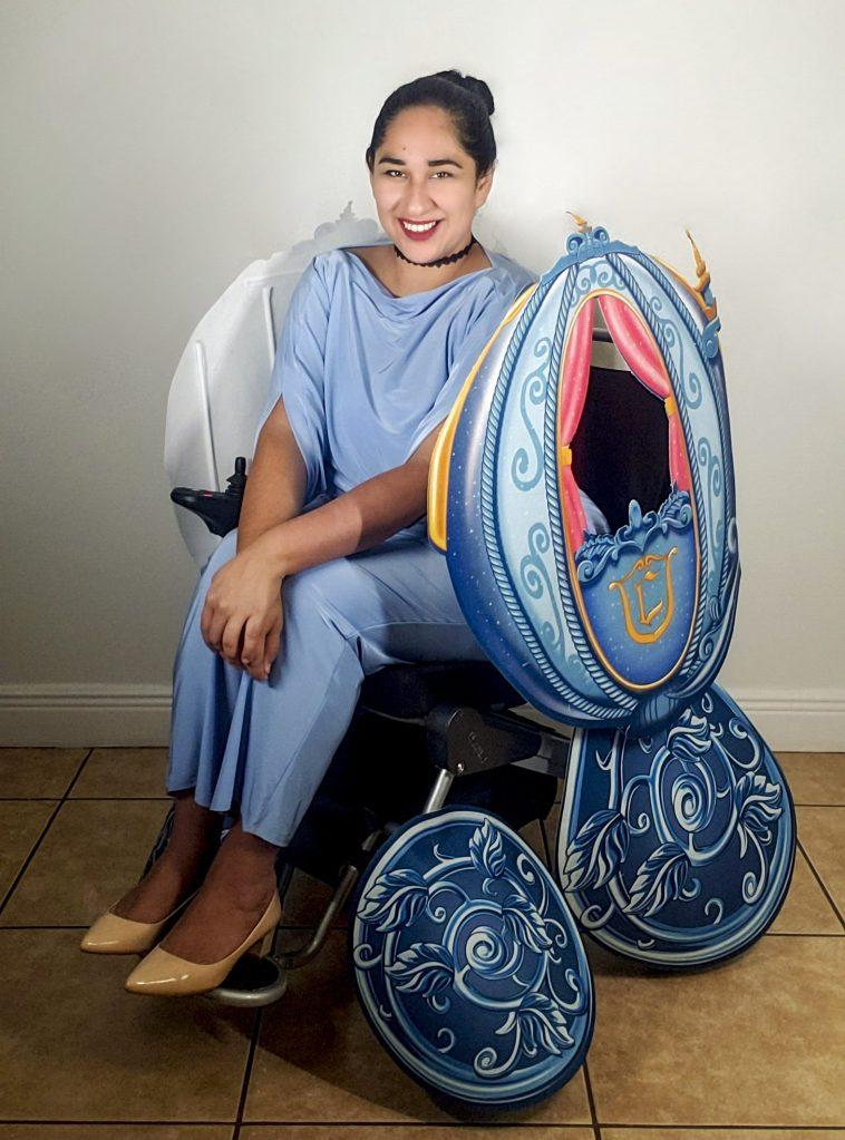 cinderella wheelchair costume