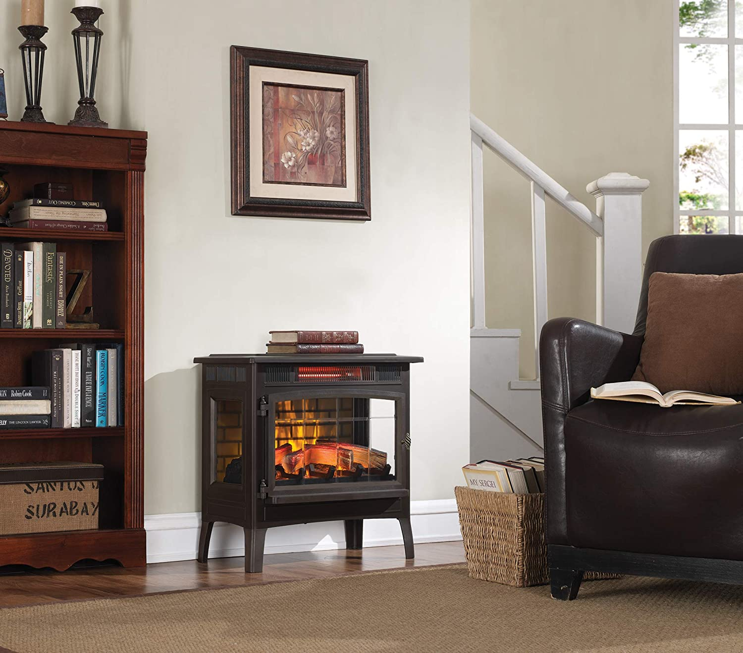 electric fireplace freestanding duraflame