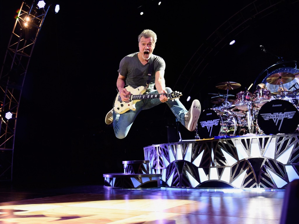 WANTAGH, NY - AUGUST 13: Eddie Van Halen performs onstage at Nikon at Jones Beach Theater on August 13, 2015 in Wantagh, New York. (Photo by Kevin Mazur/Getty Images for Solters)
