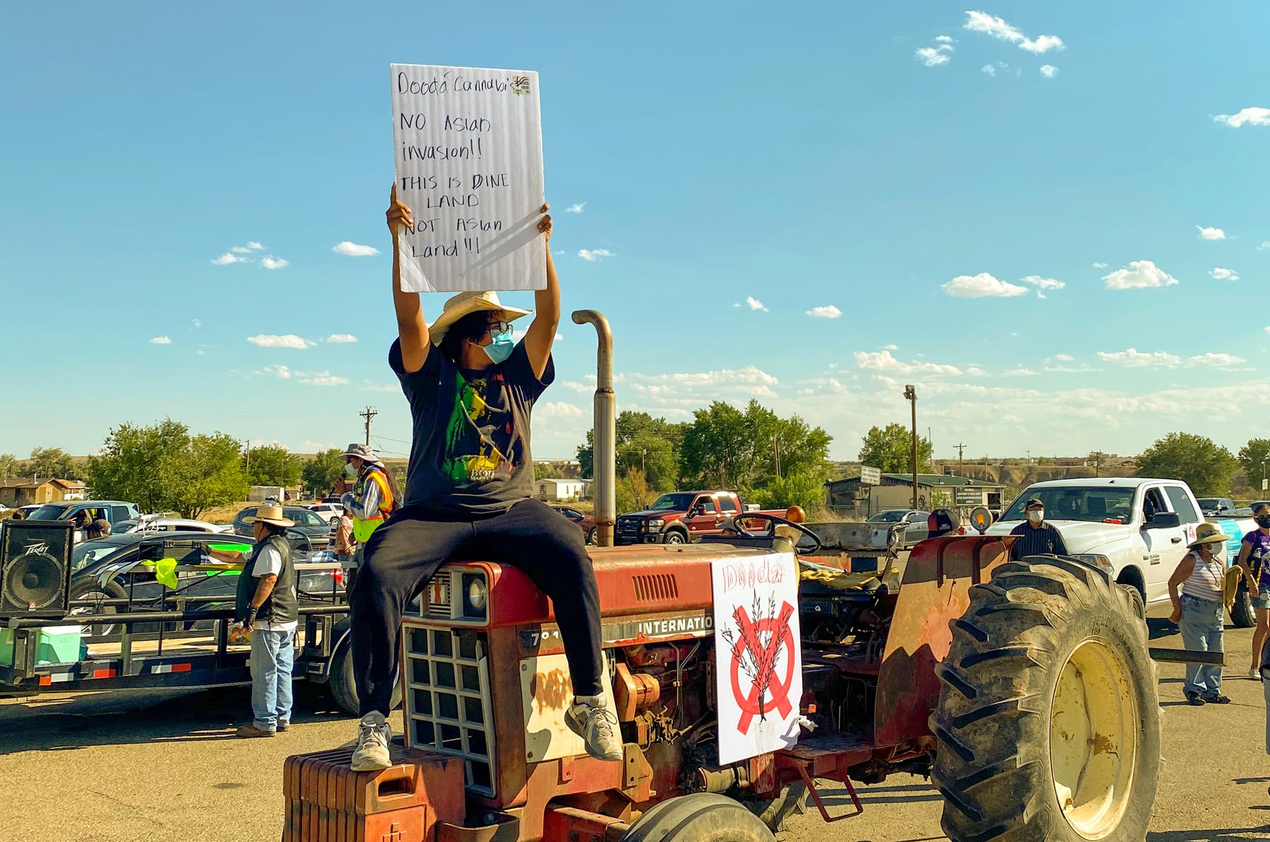 hemp protest sign