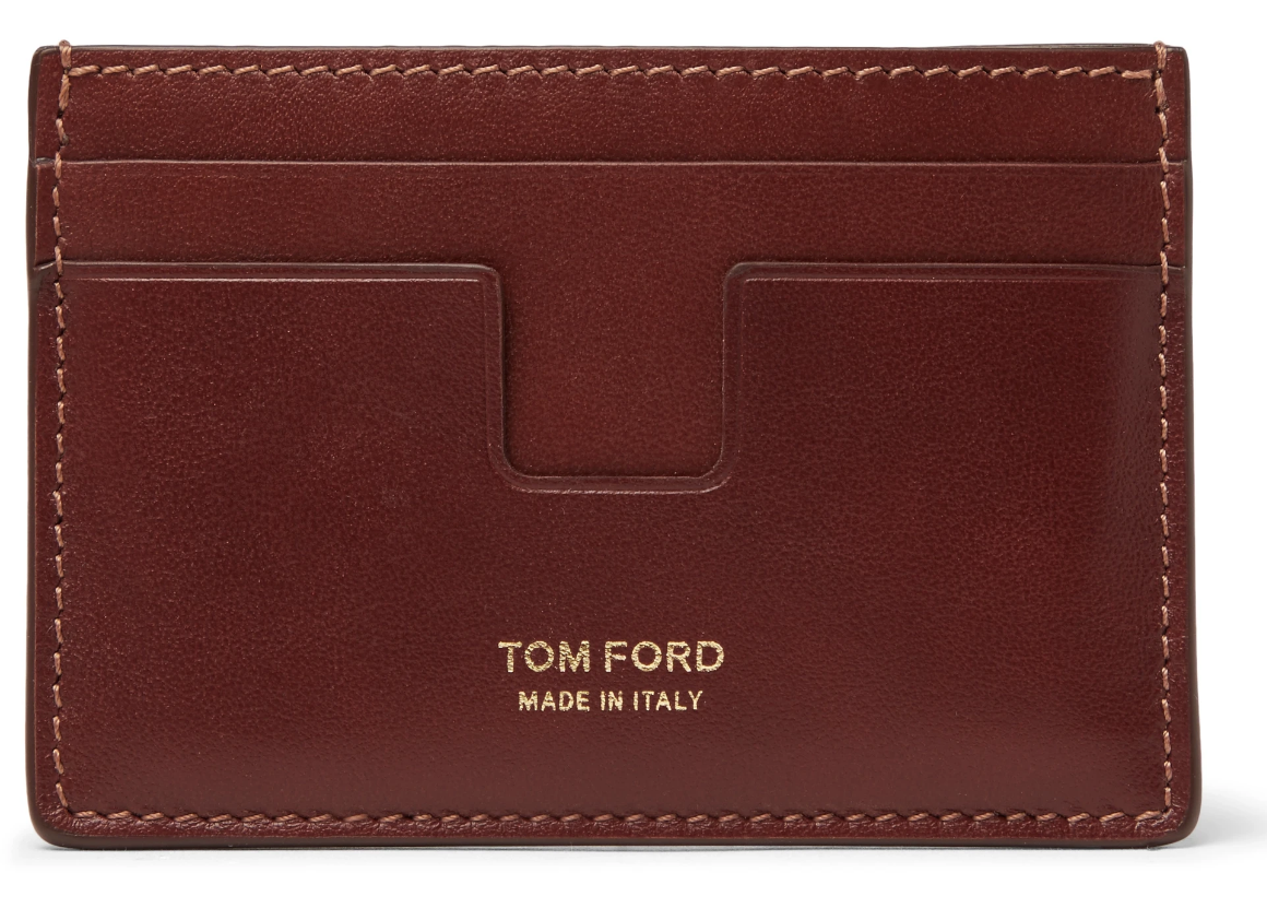 brown leather wallet mens tom ford