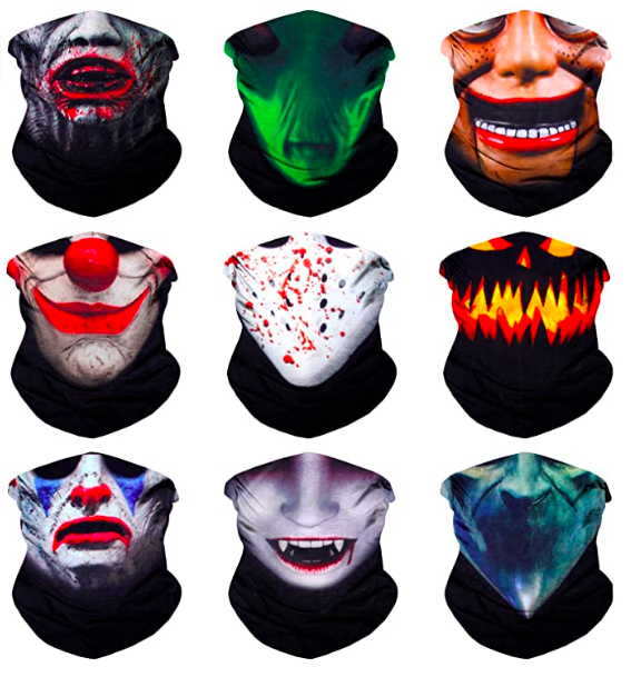 halloween face coverings