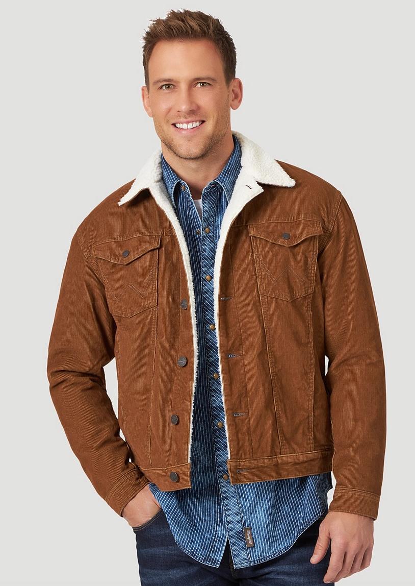 corduroy jacket sherpa mens