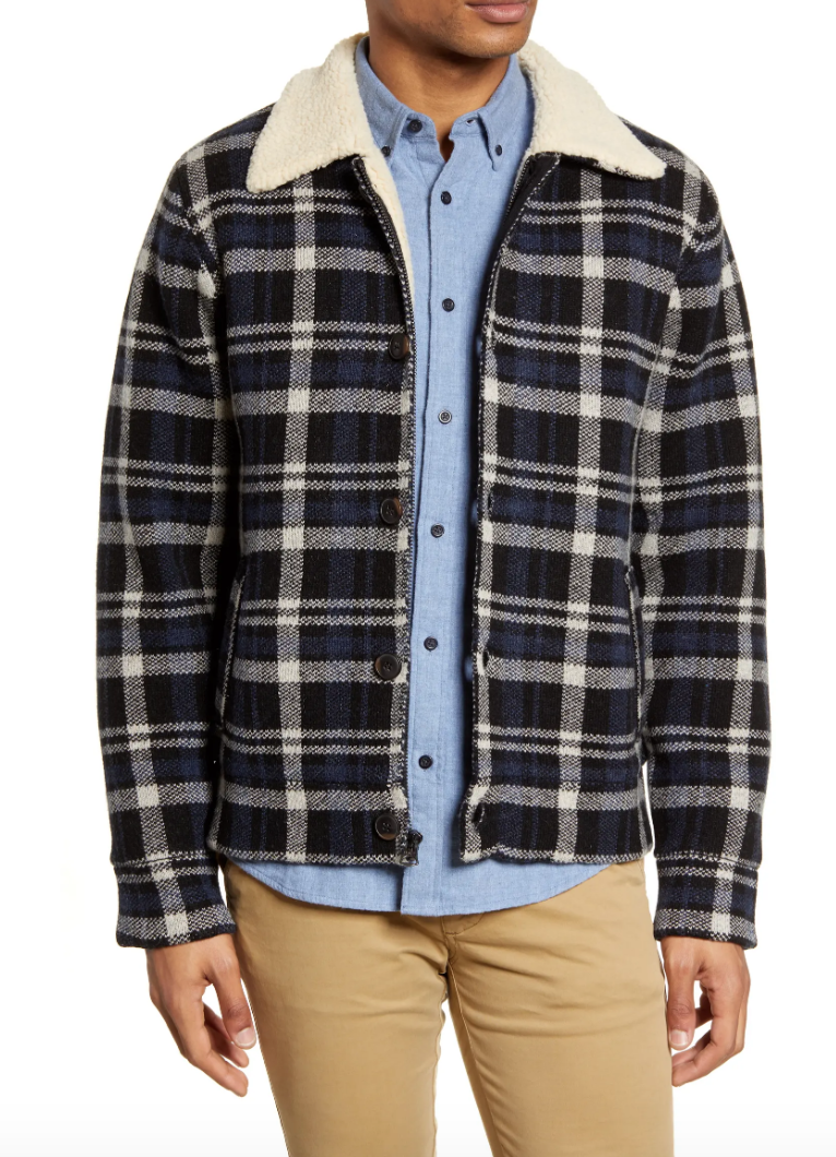 work jacket mens fur lining