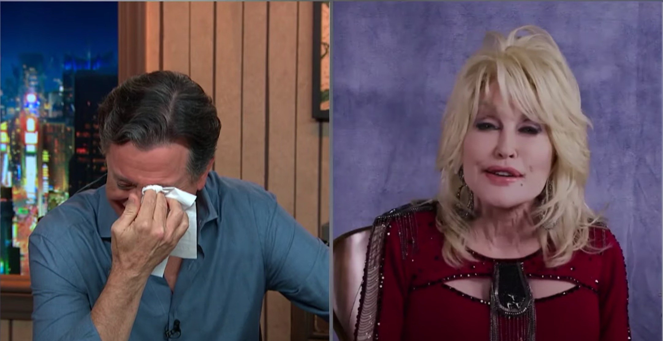 Dolly Parton Made Stephen Colbert Cry With an Old Folk Song on 'The Late Show' – Rolling Stone