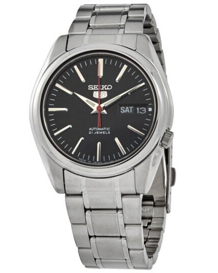 seiko 5 automatic watch black dial