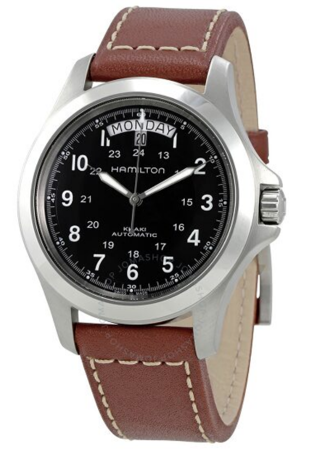 leather strap watch mens hamilton
