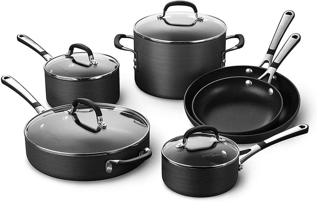 calphalon nonstick pots pans