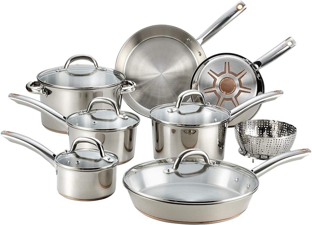 copper bottom cookware set
