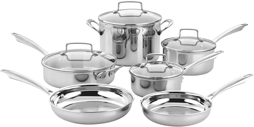 cuisinart 10 piece stainless steel cookware