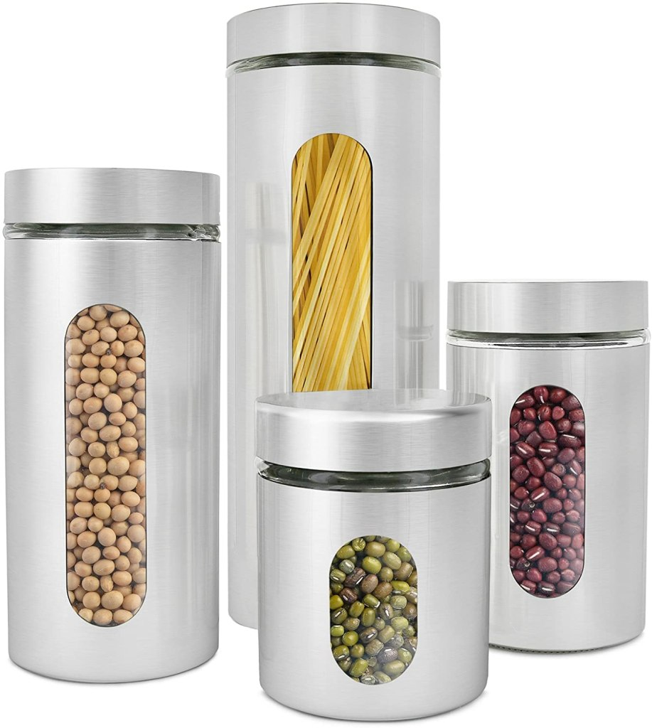estilo brushed stainless canisters
