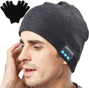 headphones beanie