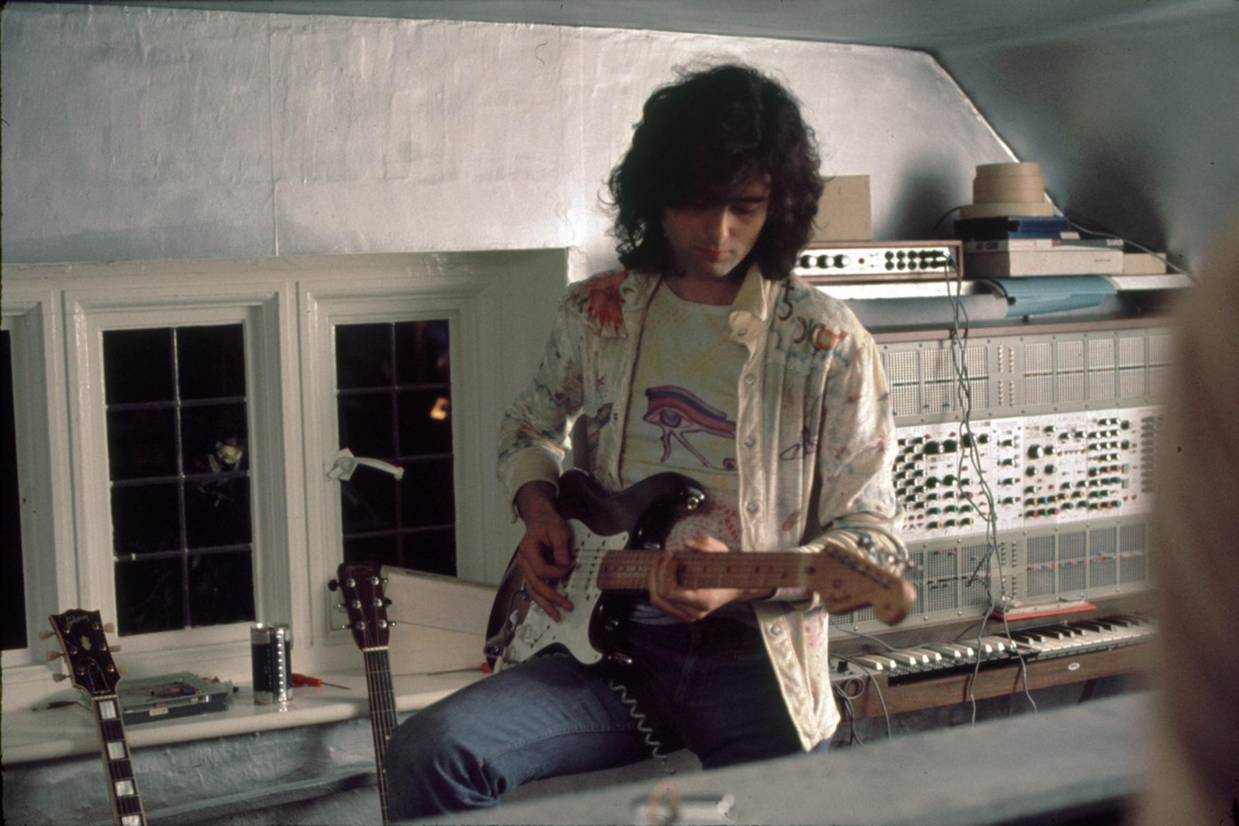 Jimmy Page Miniature Guitar Led Zeppelin Doubleneck w// Guitar Pick