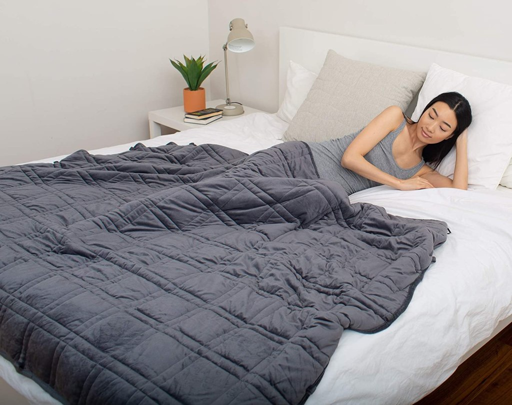 pineriver chilled bamboo weighted blanket