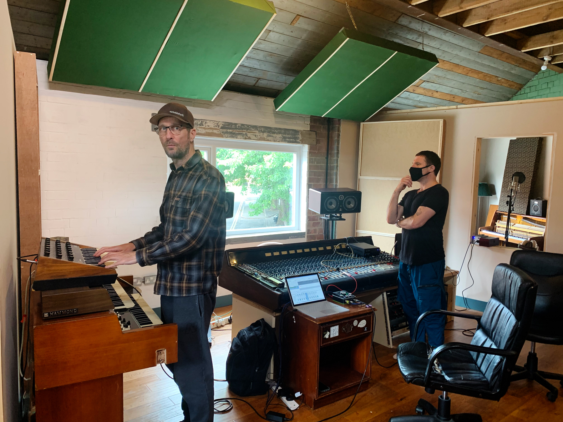 Sleaford Mods in the studio in July.