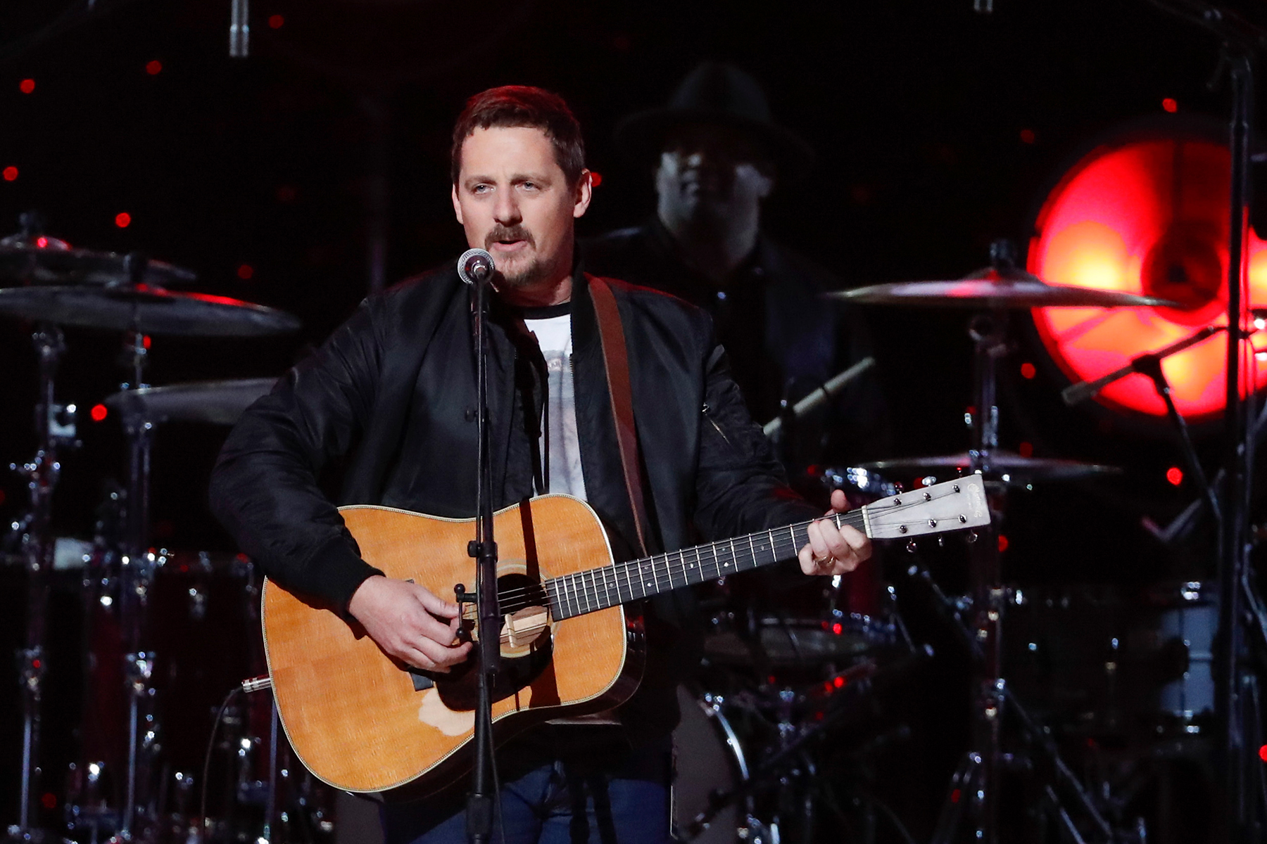 Sturgill Simpson performs at Willie: Life & Songs Of An American Outlaw at Bridgestone Arena on Saturday, January 12, 2019, in Nashville, Tenn. (Photo by Al Wagner/Invision/AP)
