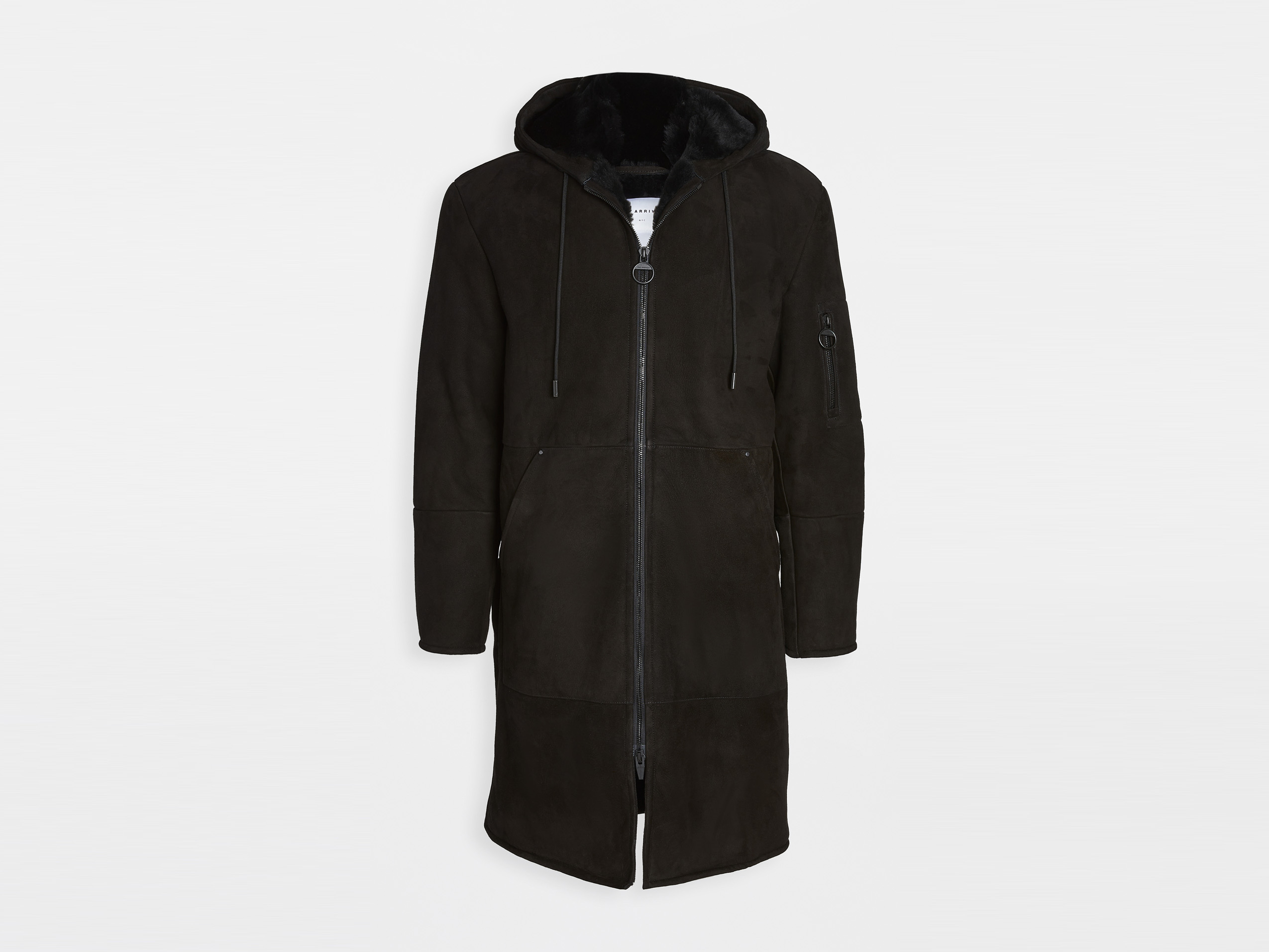 Best Men's Winter Jackets - The Arrivals Shearling Hooded Coat