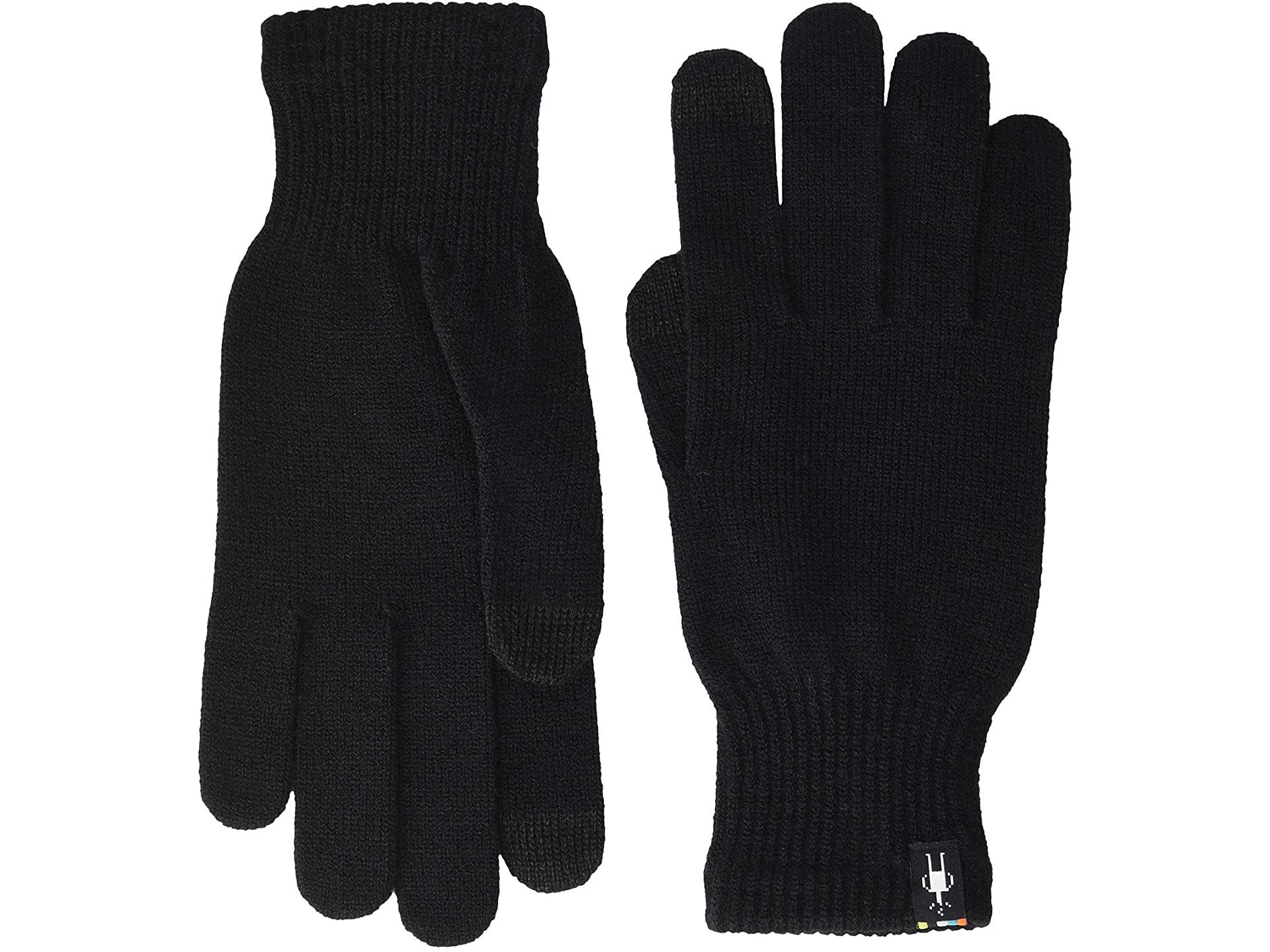 black wool gloves touchscreen