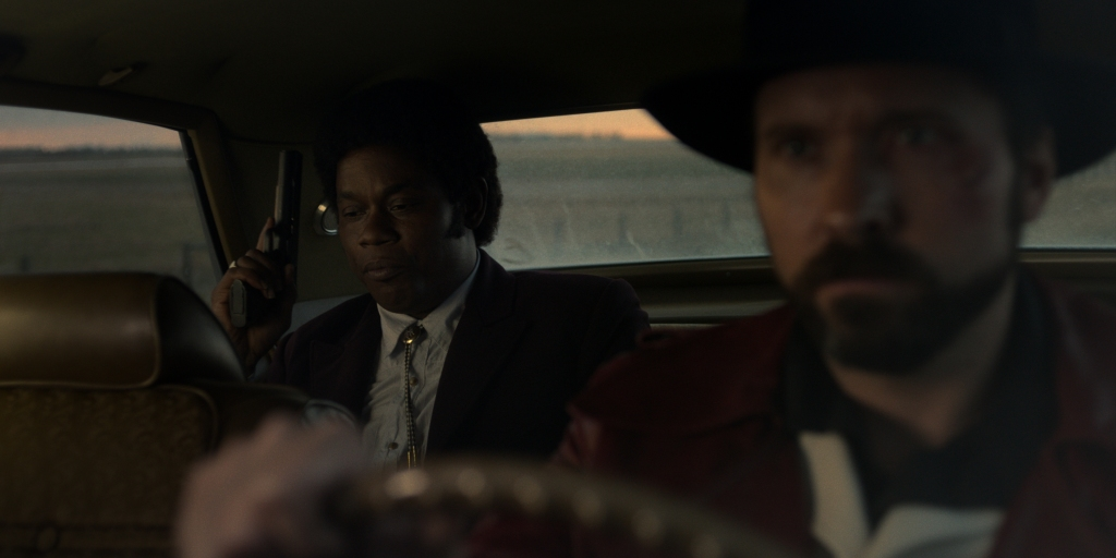 "FARGO -- ""Storia Americana"" - Year 4, Episode 11 (Airs November 29) Pictured: Bokeem Woodbine as Mike Milligan, Brad Mann as Peter Shap. CR: FX"
