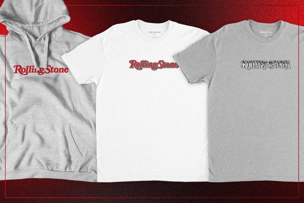 rolling stone logo tees hoodies