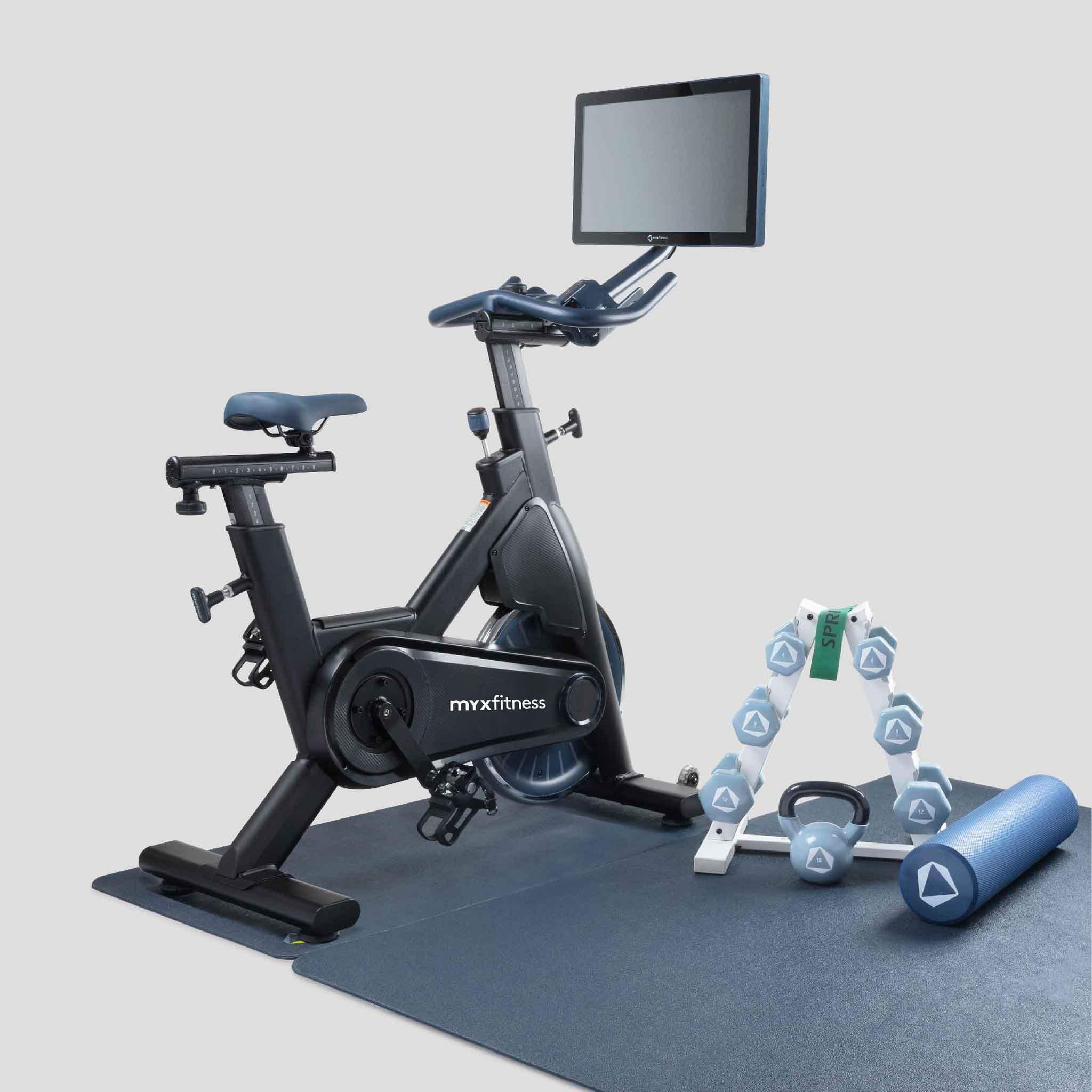 workout bike myx weights