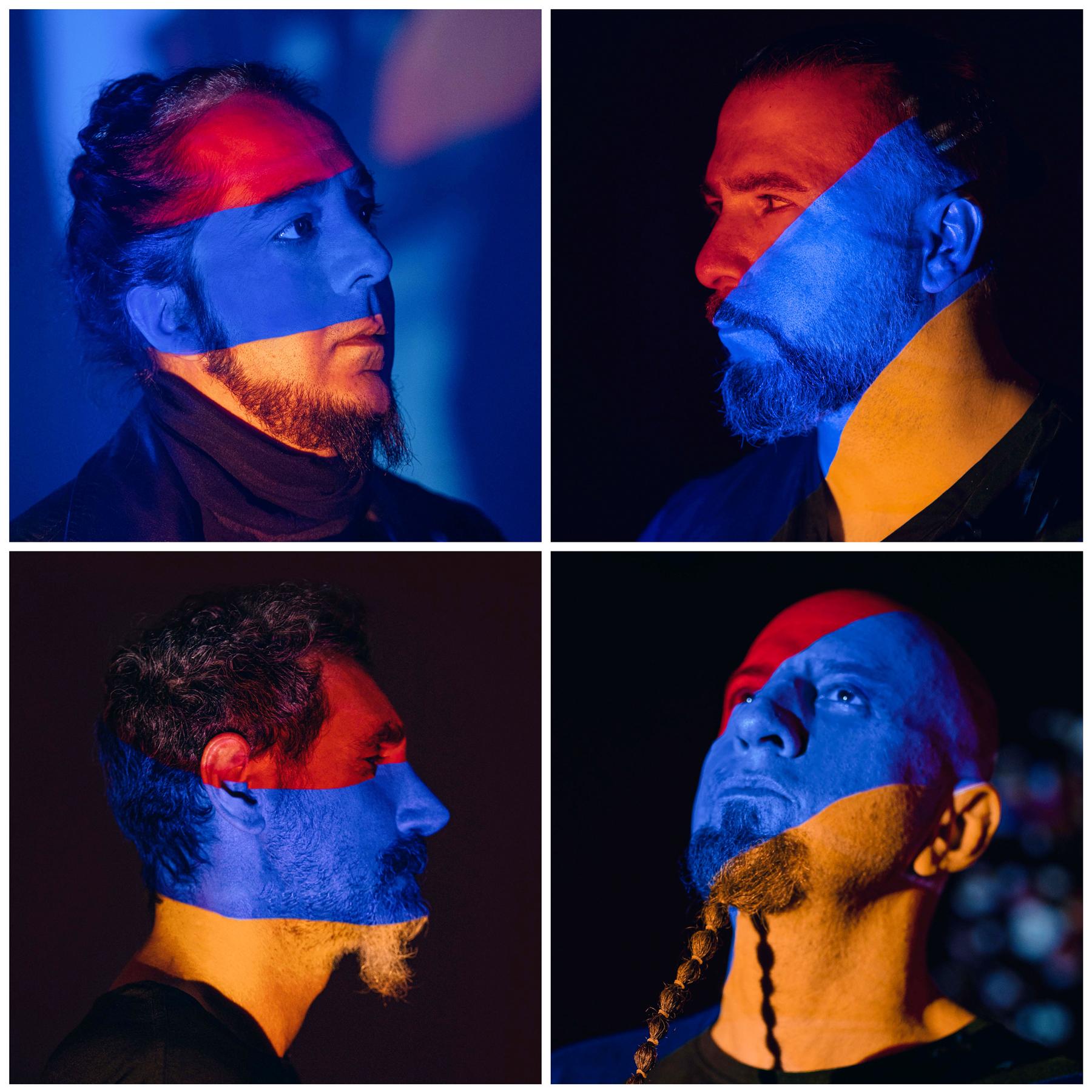 Top, from Left: Daron Malakian, John Dolmayan;Boffom, from Left: Serj Tankian, Shavo Odadjian