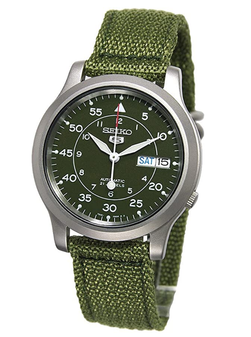 military watch seiko 5 automatic