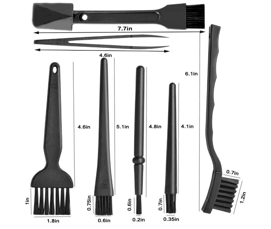 Portable Plastic Handle Nylon Anti Static Brushes