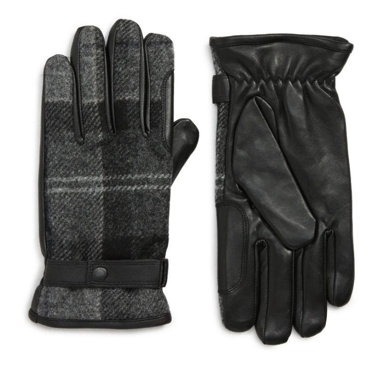 mens leather gloves leather wool