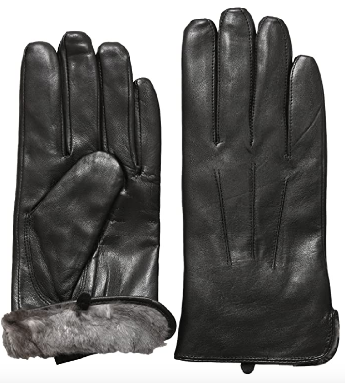 black leather gloves lined mens