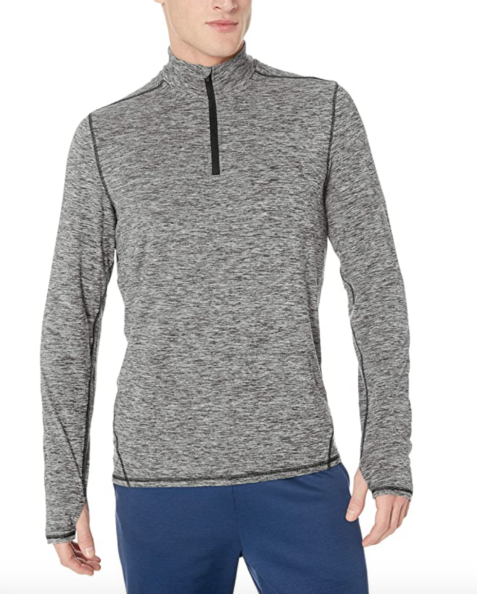half zip workout shirt mens