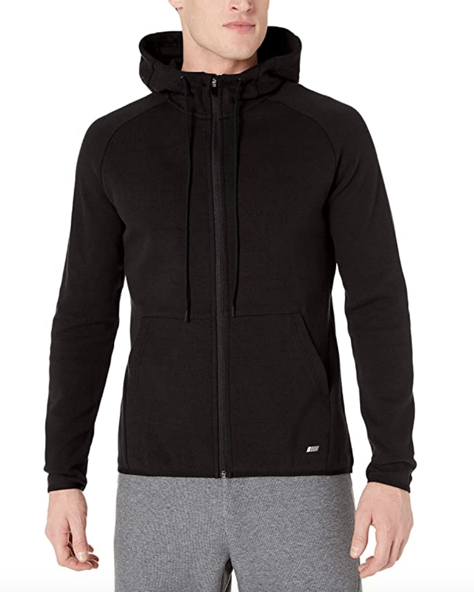 black hoodie workout sweatshirt