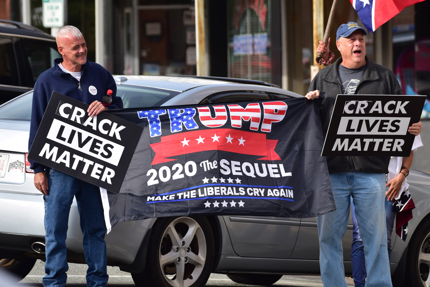 Pro-Trump demonstrators in Alamance County, N.C.